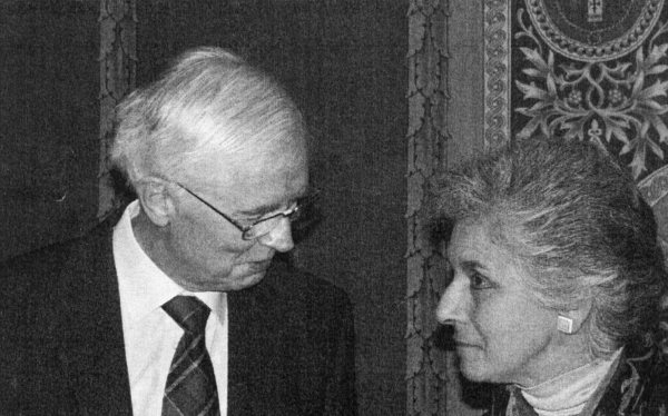 Mr John Murphy and Miss Marilyn Smith, workers at Westminster, at the Reception