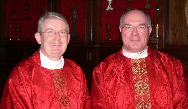 Past and present Presidents: Mgr John Conneely and Mgr. David Hogan
